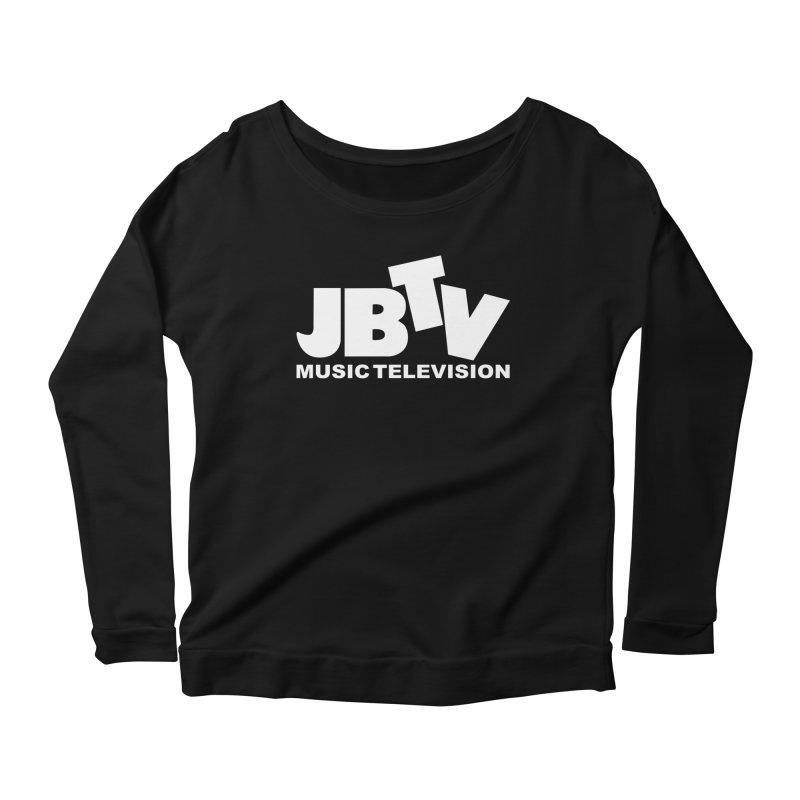 JBTV Music Television White Women's Longsleeve Scoopneck  by JBTV's Artist Shop