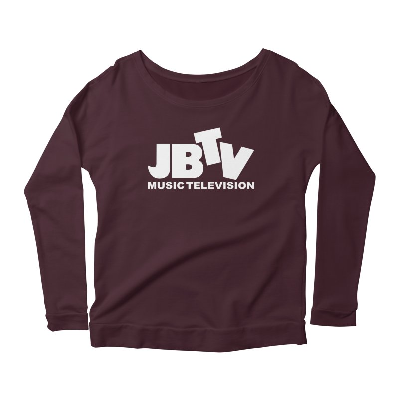 JBTV Music Television White Women's Scoop Neck Longsleeve T-Shirt by JBTV