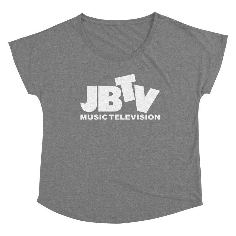 JBTV Music Television White Women's Scoop Neck by JBTV