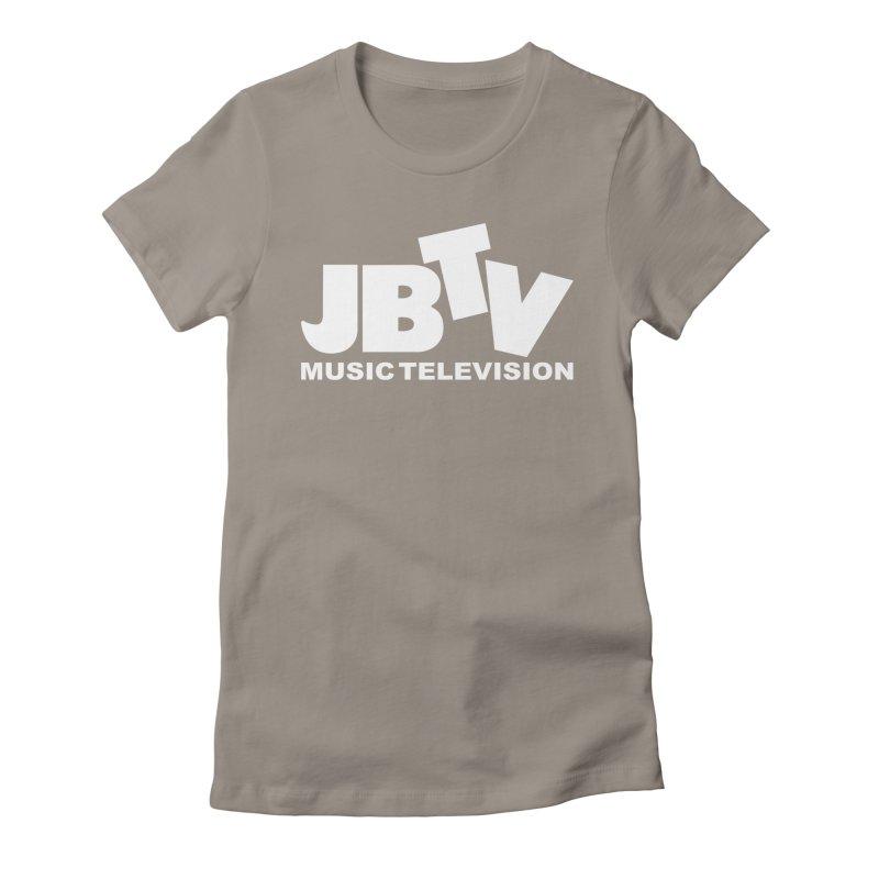 JBTV Music Television White Women's Fitted T-Shirt by JBTV