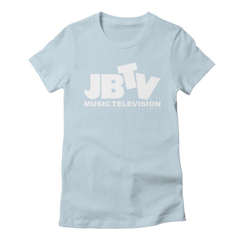 JBTV Music Television White Women's Fitted T-Shirt by JBTV's Artist Shop