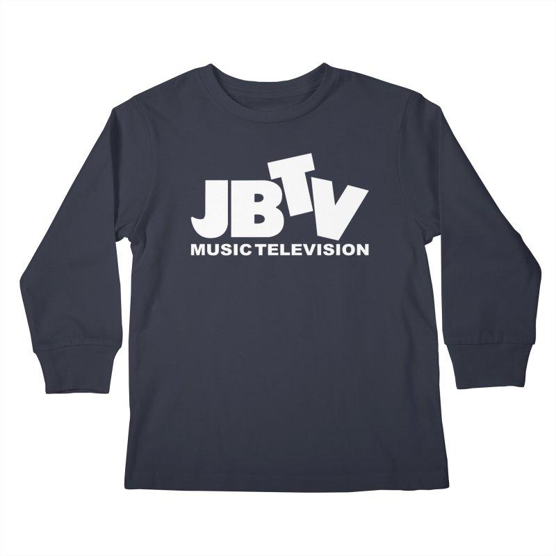 JBTV Music Television White Kids Longsleeve T-Shirt by JBTV
