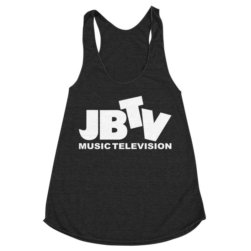 JBTV Music Television White in Women's Racerback Triblend Tank Heather Onyx by JBTV