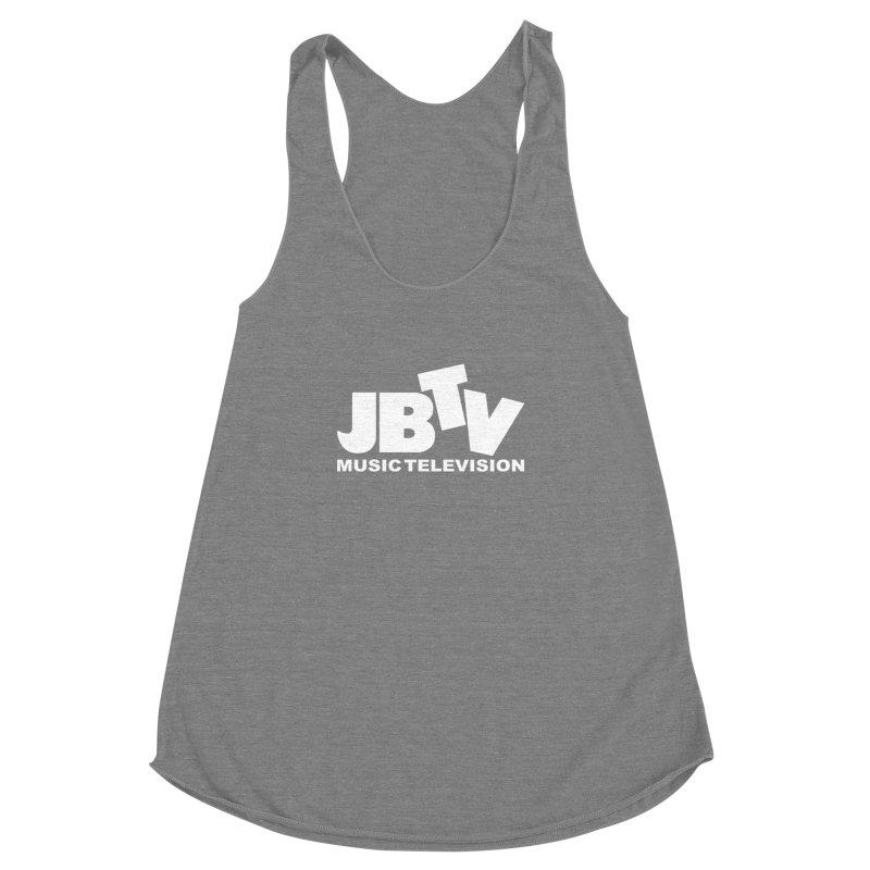 JBTV Music Television White Women's Racerback Triblend Tank by JBTV's Artist Shop