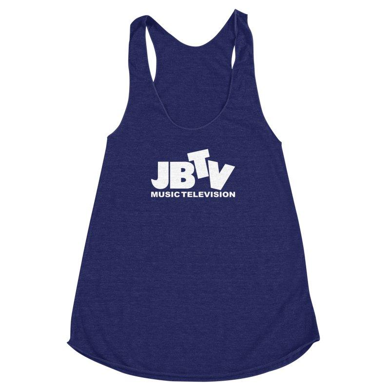 JBTV Music Television White Women's Racerback Triblend Tank by JBTV