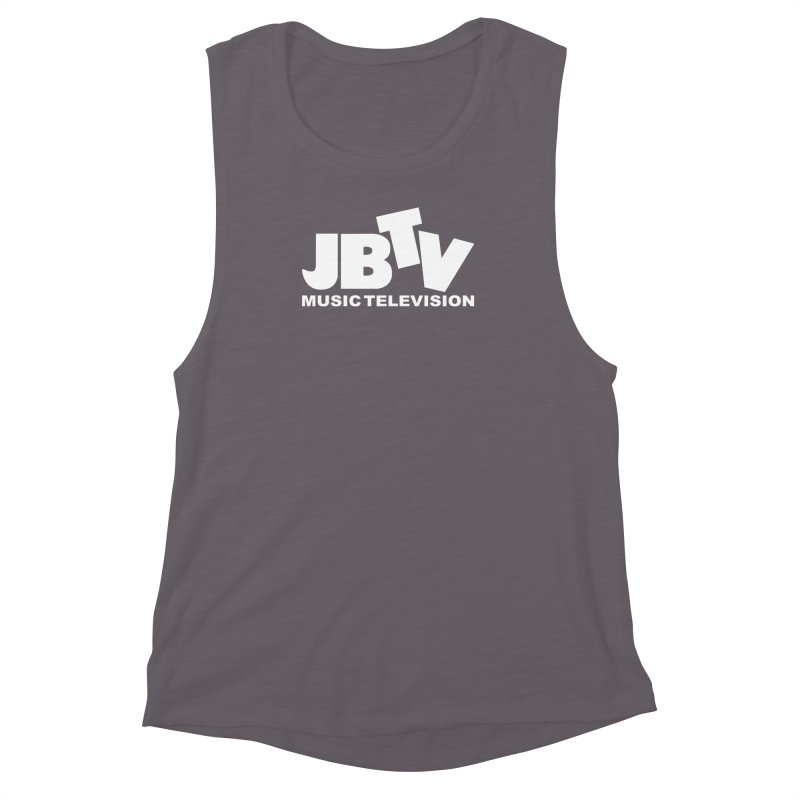 JBTV Music Television White Women's Muscle Tank by JBTV's Artist Shop
