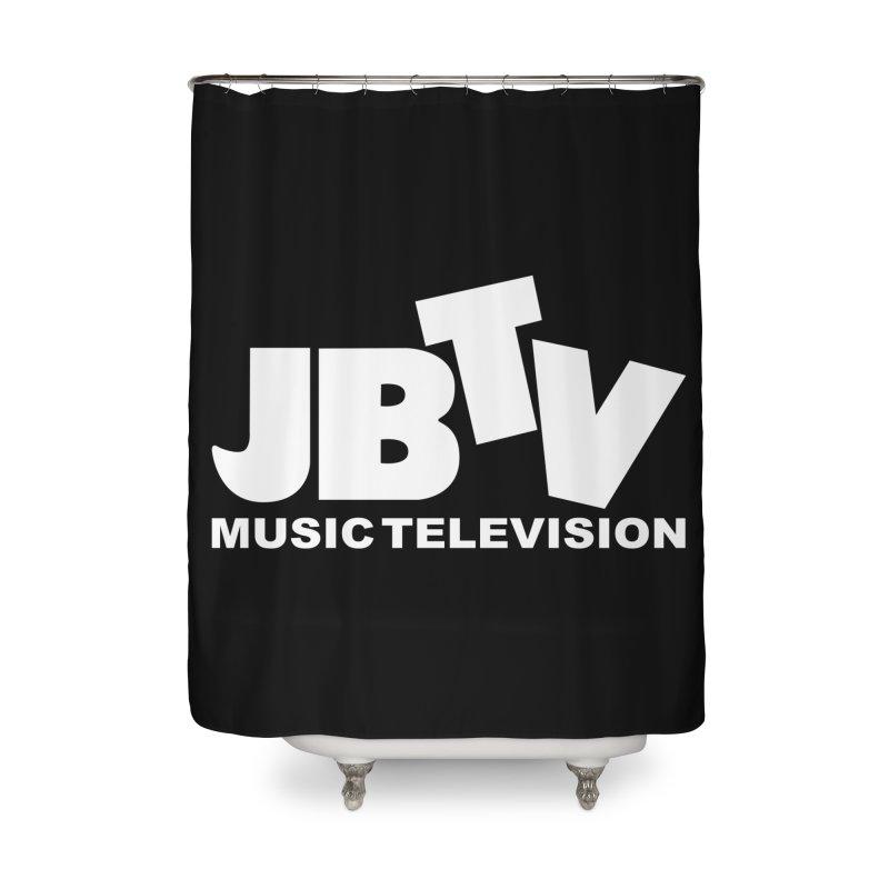 JBTV Music Television White Home Shower Curtain by JBTV's Artist Shop
