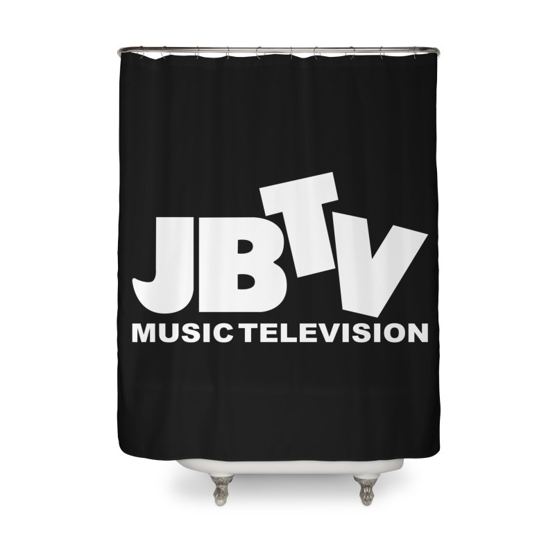 JBTV Music Television White Home Shower Curtain by JBTV