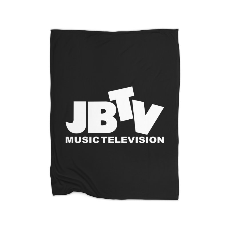 JBTV Music Television White Home Fleece Blanket Blanket by JBTV