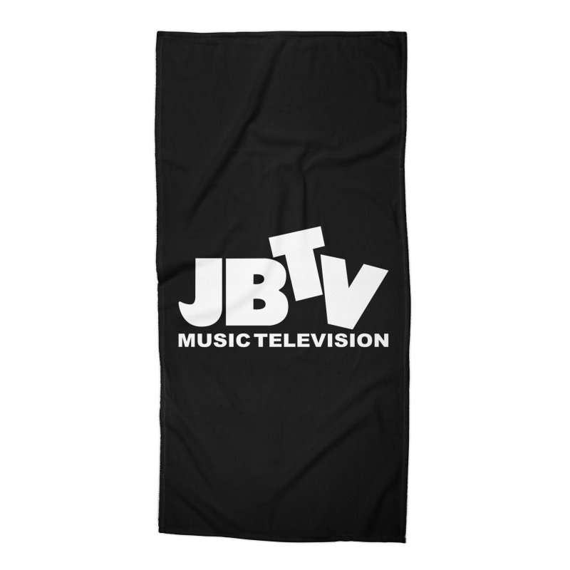JBTV Music Television White Accessories Beach Towel by JBTV's Artist Shop