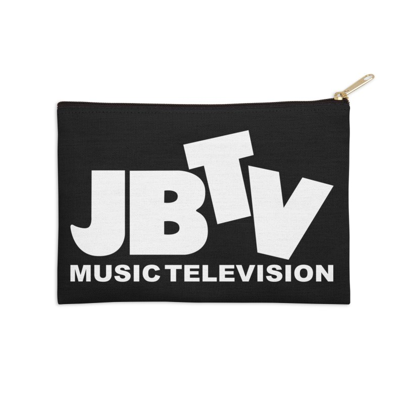 JBTV Music Television White Accessories Zip Pouch by JBTV's Artist Shop