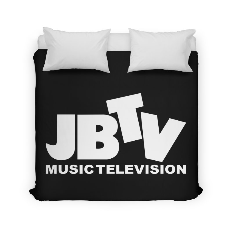 JBTV Music Television White Home Duvet by JBTV's Artist Shop
