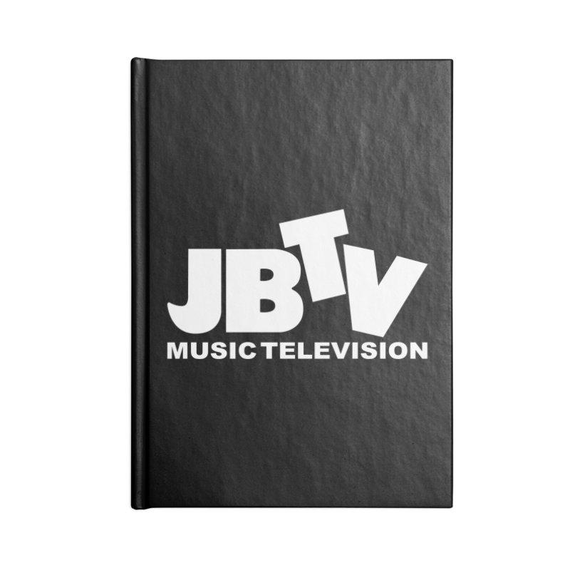 JBTV Music Television White Accessories Lined Journal Notebook by JBTV