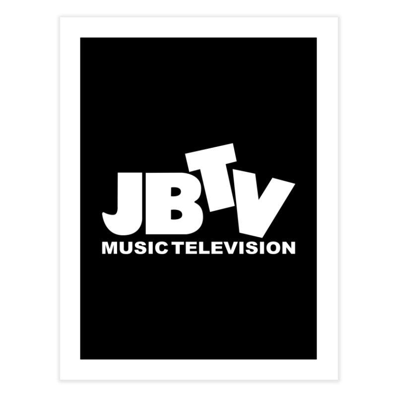 JBTV Music Television White Home Fine Art Print by JBTV's Artist Shop
