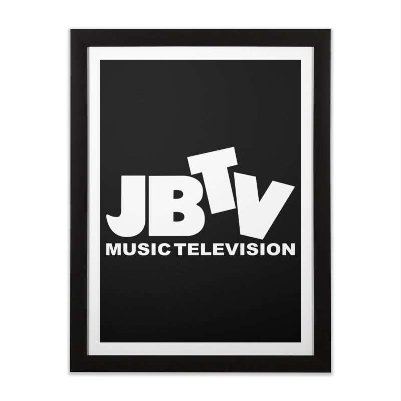 JBTV Music Television White Home Framed Fine Art Print by JBTV