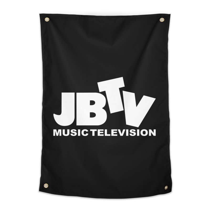 JBTV Music Television White Home Tapestry by JBTV's Artist Shop