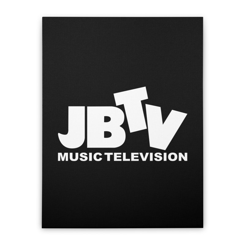 JBTV Music Television White Home Stretched Canvas by JBTV's Artist Shop