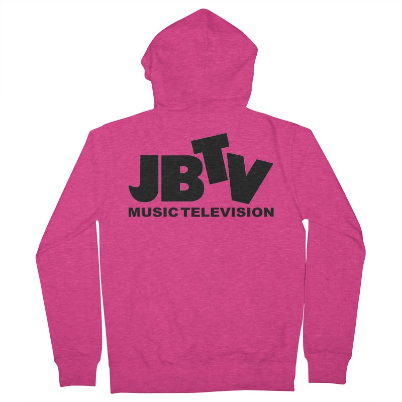JBTV Music Television Black Women's French Terry Zip-Up Hoody by JBTV