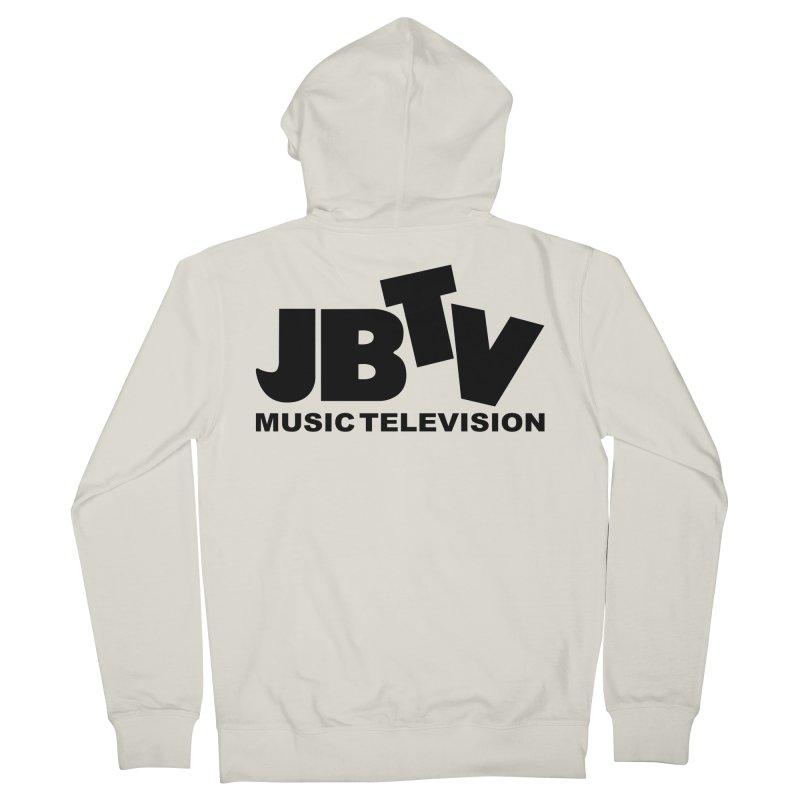 JBTV Music Television Black Women's French Terry Zip-Up Hoody by JBTV's Artist Shop