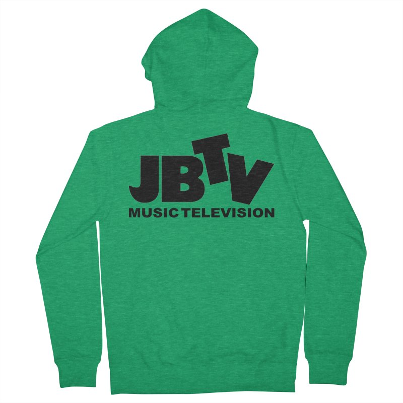 JBTV Music Television Black Men's Zip-Up Hoody by JBTV's Artist Shop