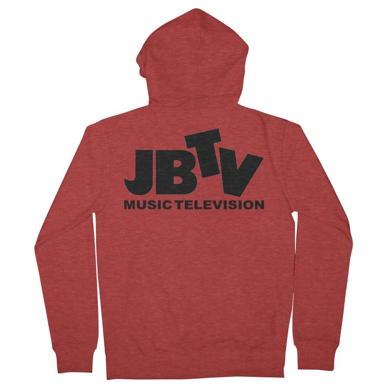 JBTV Music Television Black Men's French Terry Zip-Up Hoody by JBTV