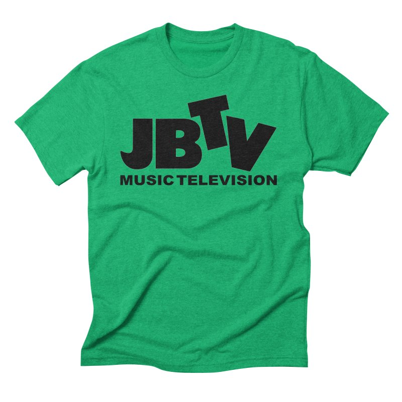 JBTV Music Television Black Men's Triblend T-Shirt by JBTV's Artist Shop