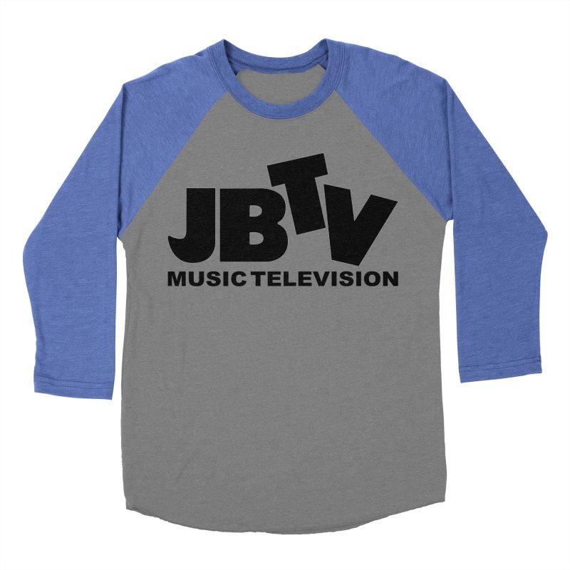 JBTV Music Television Black Women's Baseball Triblend T-Shirt by JBTV's Artist Shop