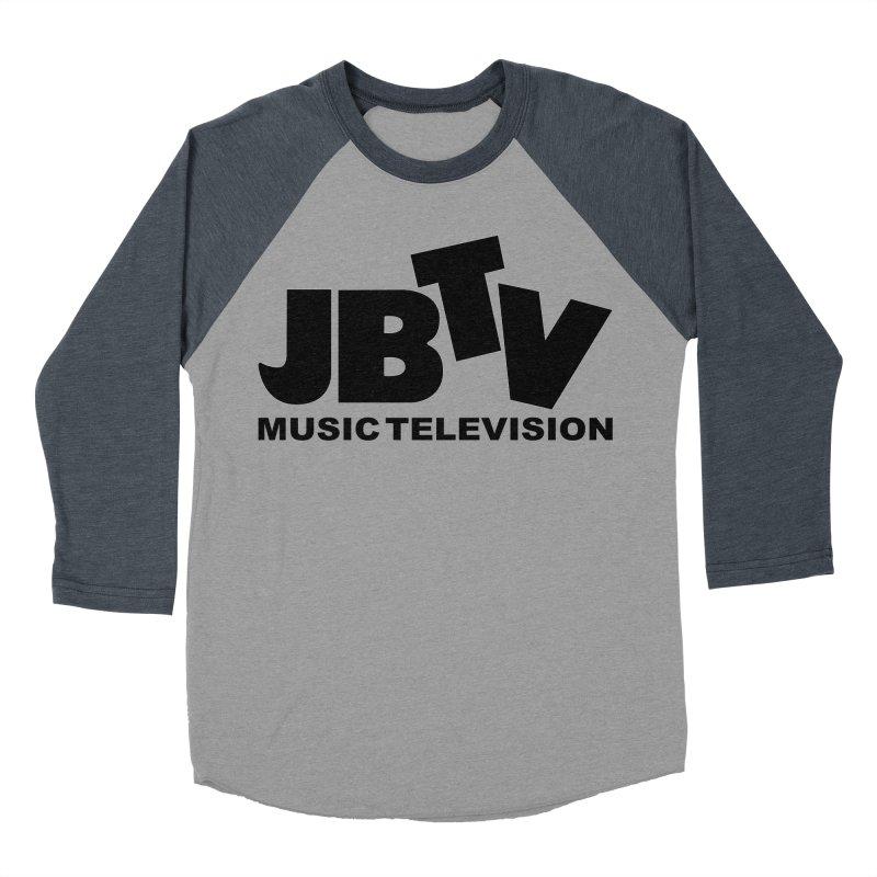 JBTV Music Television Black Men's Baseball Triblend Longsleeve T-Shirt by JBTV's Artist Shop