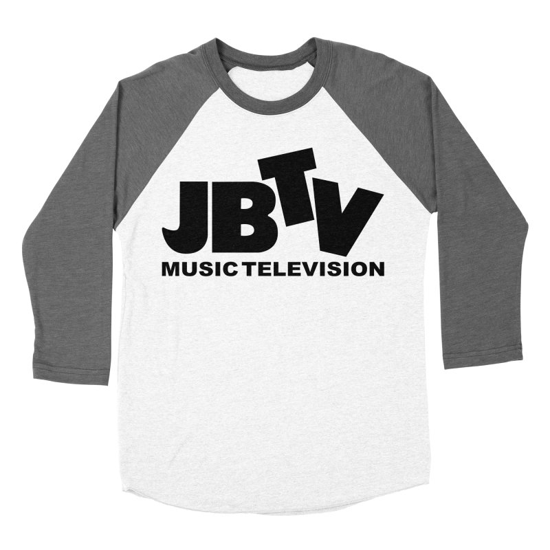 JBTV Music Television Black Men's Baseball Triblend T-Shirt by JBTV's Artist Shop