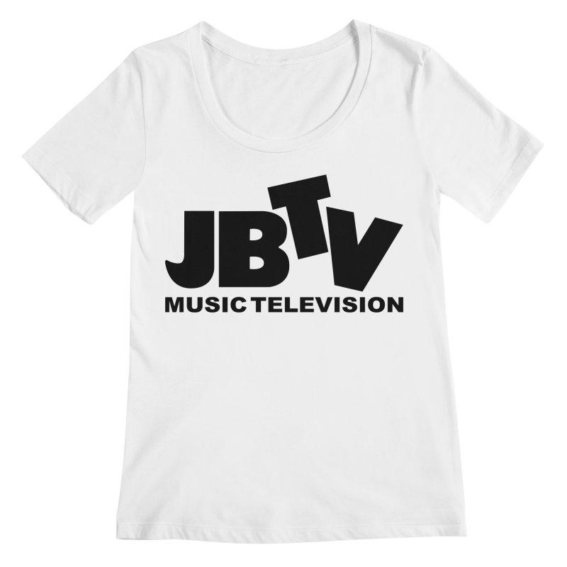 JBTV Music Television Black Women's Regular Scoop Neck by JBTV