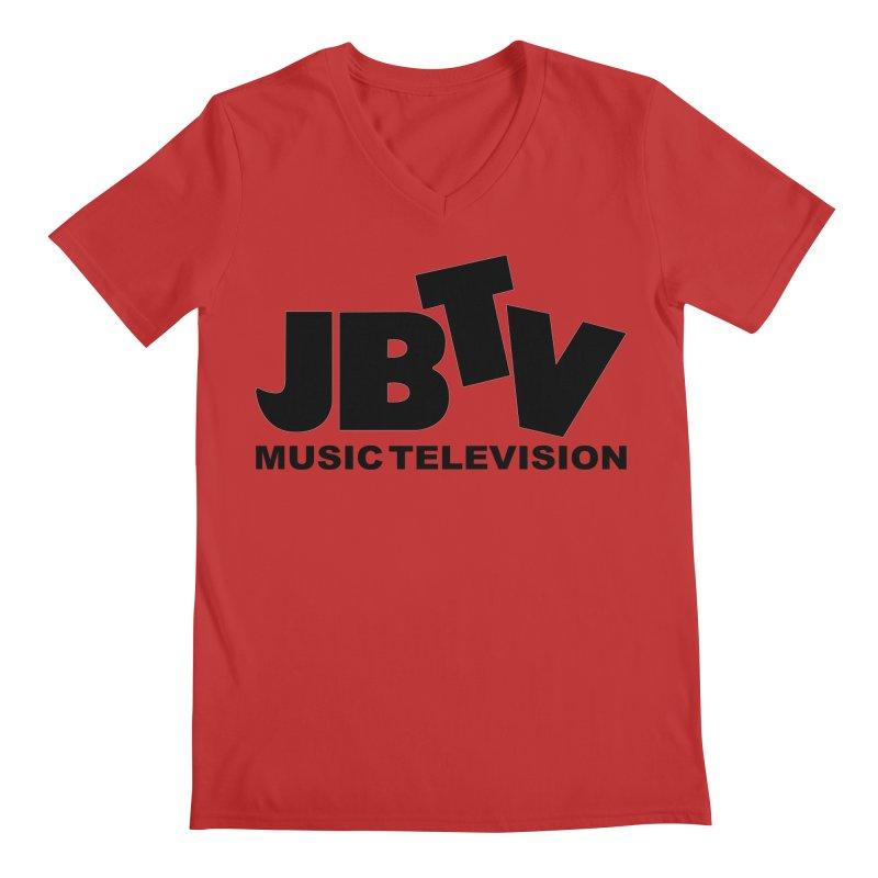 JBTV Music Television Black Men's Regular V-Neck by JBTV