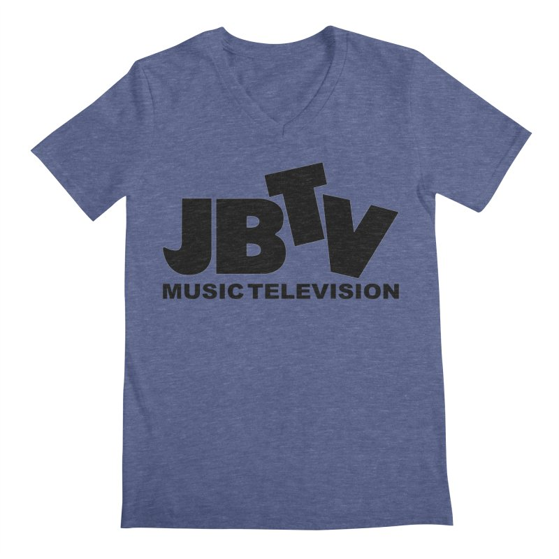 JBTV Music Television Black Men's V-Neck by JBTV
