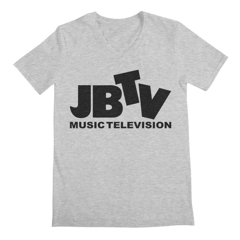 JBTV Music Television Black Men's V-Neck by JBTV's Artist Shop