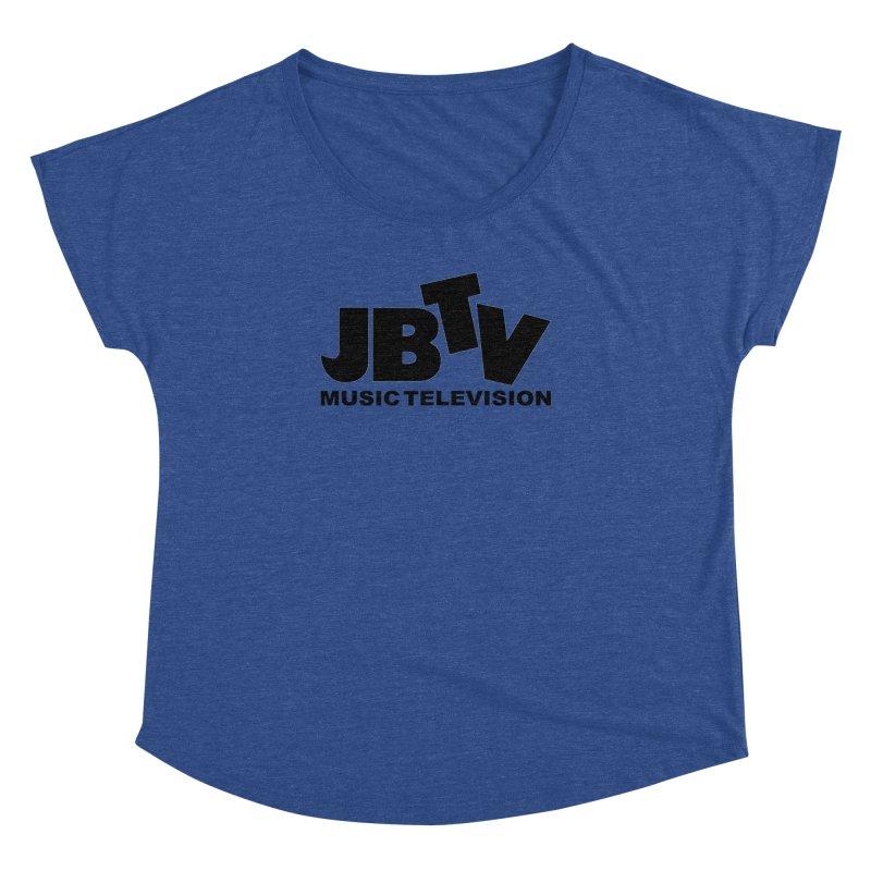 JBTV Music Television Black Women's Dolman Scoop Neck by JBTV