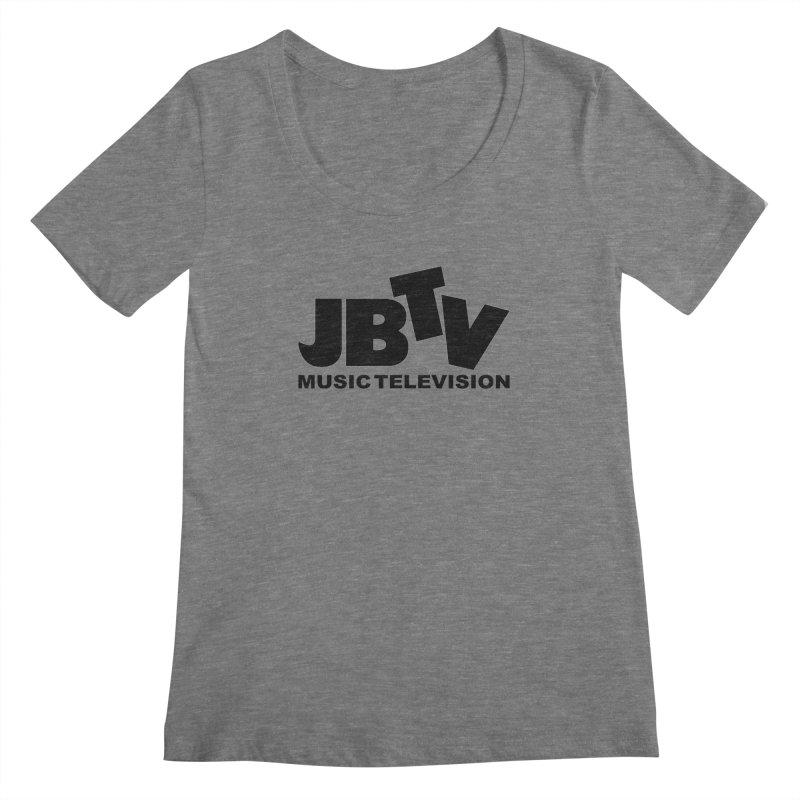 JBTV Music Television Black Women's Scoopneck by JBTV's Artist Shop