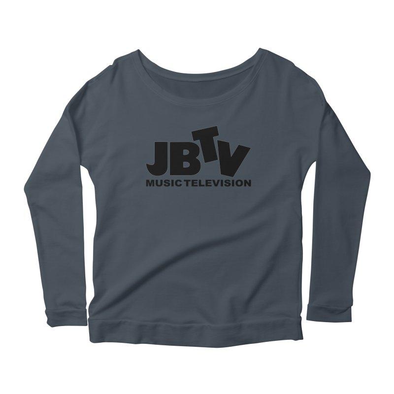 JBTV Music Television Black Women's Scoop Neck Longsleeve T-Shirt by JBTV