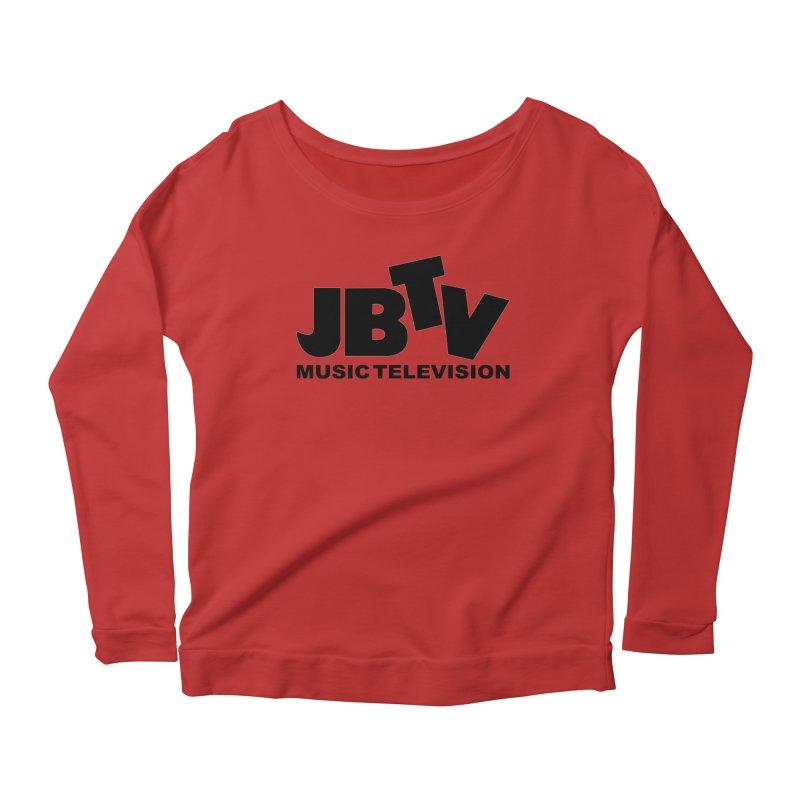 JBTV Music Television Black Women's Scoop Neck Longsleeve T-Shirt by JBTV's Artist Shop