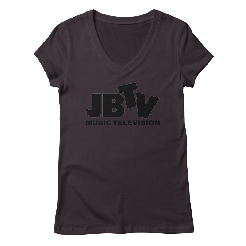 JBTV Music Television Black Women's Regular V-Neck by JBTV