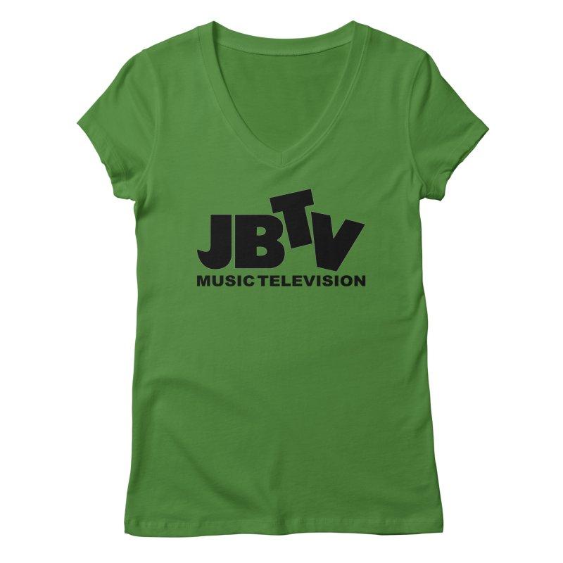 JBTV Music Television Black Women's Regular V-Neck by JBTV