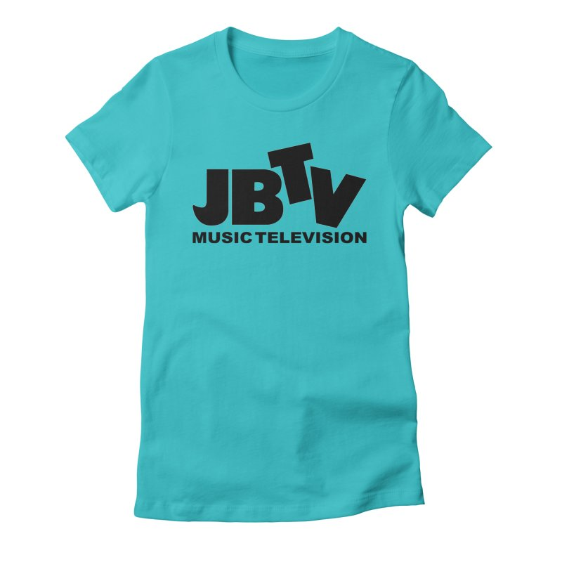 JBTV Music Television Black Women's Fitted T-Shirt by JBTV's Artist Shop