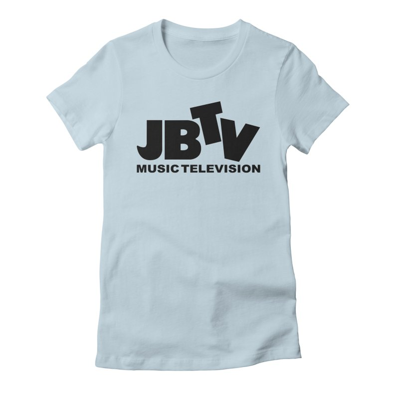 JBTV Music Television Black Women's Fitted T-Shirt by JBTV