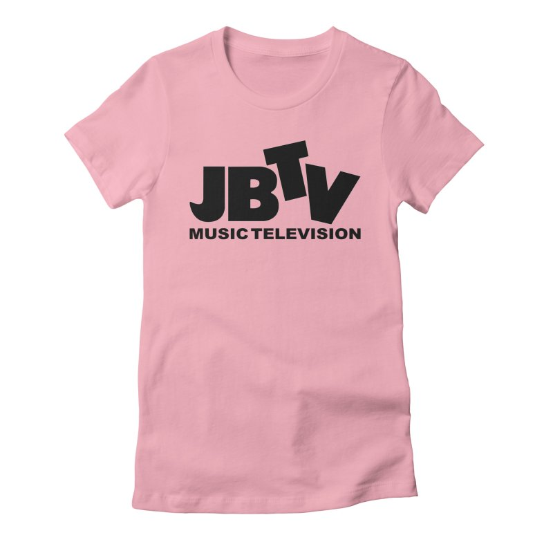 JBTV Music Television Black Women's Fitted T-Shirt by JBTV