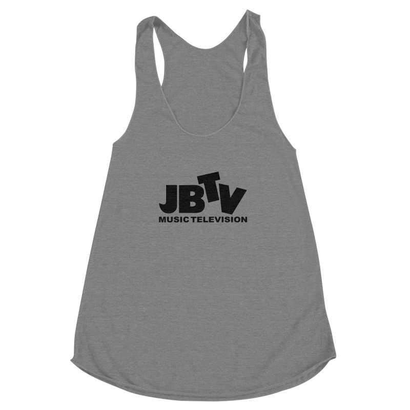 JBTV Music Television Black Women's Racerback Triblend Tank by JBTV's Artist Shop