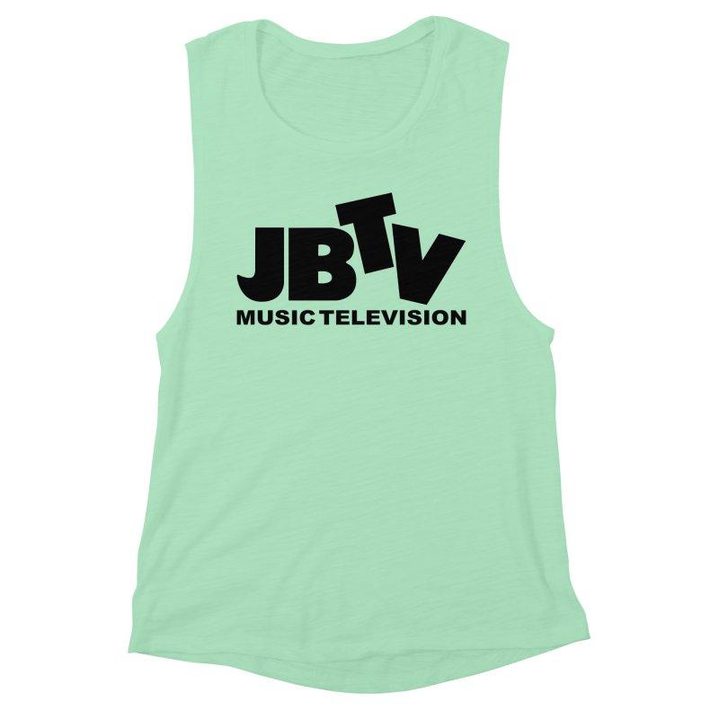 JBTV Music Television Black Women's Muscle Tank by JBTV