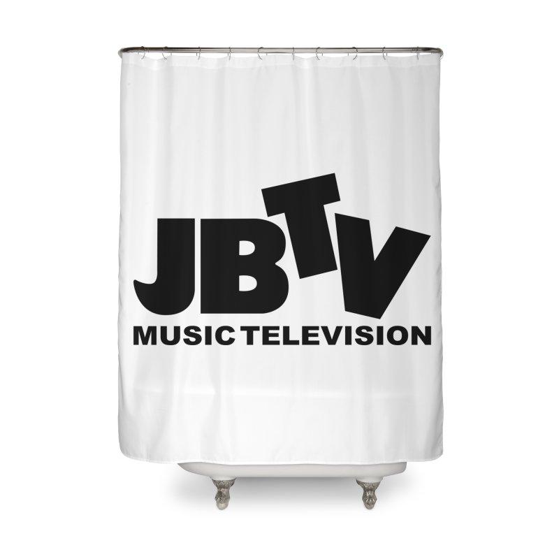 JBTV Music Television Black Home Shower Curtain by JBTV's Artist Shop