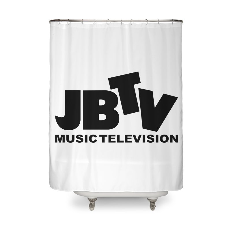 JBTV Music Television Black Home Shower Curtain by JBTV