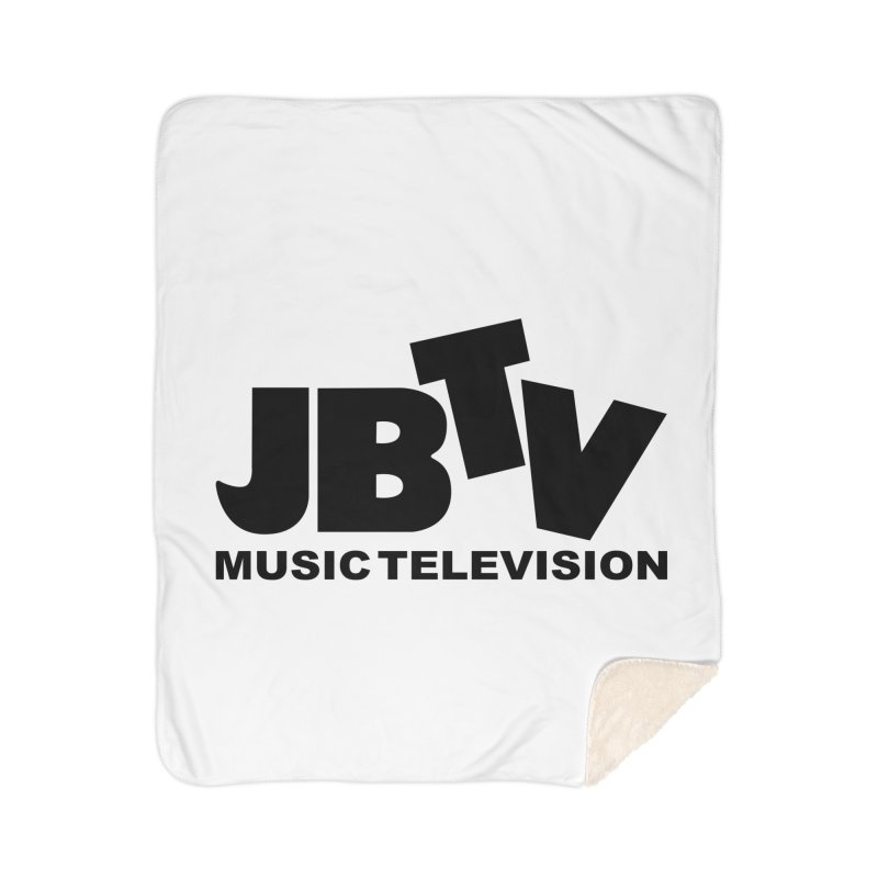 JBTV Music Television Black Home Sherpa Blanket Blanket by JBTV