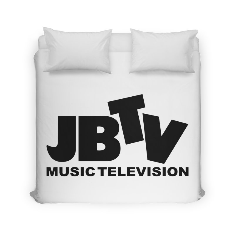 JBTV Music Television Black Home Duvet by JBTV's Artist Shop