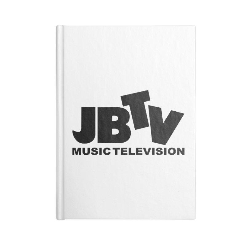 JBTV Music Television Black Accessories Lined Journal Notebook by JBTV