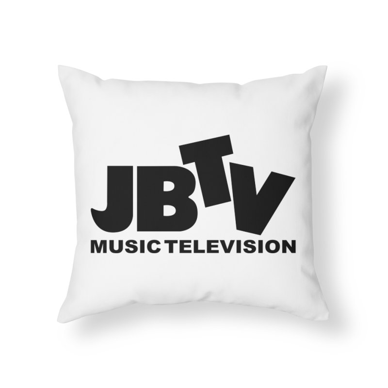 JBTV Music Television Black Home Throw Pillow by JBTV's Artist Shop